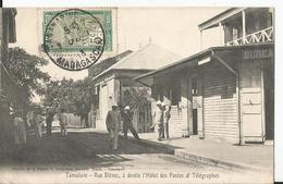 CPA - Tamatave - Rue Blévec - A Droite L'hôtel Des Postes Et Télégraphe - Madagascar