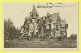 * Spa (Liège - La Wallonie) * (P.B.L. - XL, Nr 8) Le Neubois, Occupé Par Ex Kaizer En 1918, Chateau, Kasteel, Castle - Spa