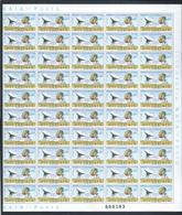 Folha De 100 Selos De Moçambique 1974. Radar Via Satélite. Telecom. Inauguração Estações Terrestres. Satellit. 2sc - Mozambique