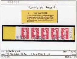 Frankreich - France - Francia - Michel 2751 A / Dallay 429a - Oo Oblit. Used Gebruikt - Tarif Janvier 1990 - Booklets