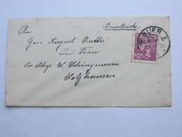 1923 , BUER  , Klarer KOS Stempel Auf Brief - Deutschland