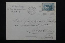 FRANCE - Cézanne Seul Sur Enveloppe De Paris Pour Stockholm En 1939 - L 21111 - Postmark Collection (Covers)