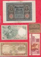 Pays Du Monde  8 Billets 7 Dans L 'état Et 1 Usagé Lot N °1 - Coins & Banknotes