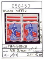 Frankreich - France - Francia - Michel 1278 - Paar Ex MH / Pair Ex Carnet Dallay 336 - ** Mnh Neuf Postfris - Booklets