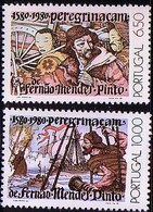 Portugal 1980 Mi 1496 - 1497 Mendes Pinto 400 Years Travels, Discoveries Sailor. MNH** W848 - 1910-... Republic