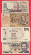 Pays Du Monde  8 Billets 5 Dans L 'état Et 3 Usagés Lot N °2 - Coins & Banknotes