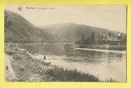* Waulsort (Hastière - Namur - La Wallonie) * (Nels) Vallée De La Meuse, La Meuse à L'écluse, Bateau, Quai, Péniche - Hastière