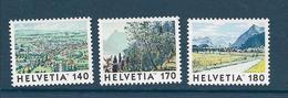 Timbre Neuf** De Suisse, N°1583-5 Yt , Zoug, Parc Des Oliviers, Reutigen - Neufs