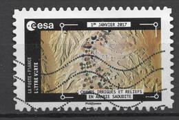 FRANCE  2018 Oblitéré : Thomas Pesquet - La Terre Vue De La Station Spatiale Internationale - KlebeBriefmarken