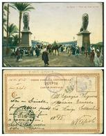 CARTOLINA - CV939 EGITTO EGYPT 1912 Il Cairo Le Caire Pont De Kasr-el-Nil, Per Napoli, FP, Annullo Regia Nave S. Marco - Cairo