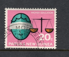 1967 PAPUA & NEW GUINEA HIGHER EDUCATION, Scales Of Justice 20c Stamp VERY FINE USED SG No. 108 - Papouasie-Nouvelle-Guinée