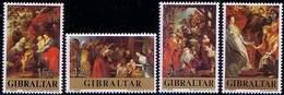 Gibraltar 1977 Mi 367 - 370 Christmas Weihnachten Rubens Painting, Holy Family Unused MNH** W846 - Gibraltar
