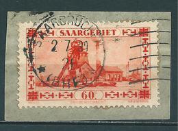 Saar MiNr. 143 Gestempelt, Plattenfehler I  (sab03) - 1920-35 League Of Nations