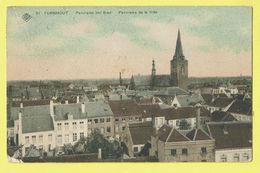 * Turnhout (Antwerpen - Anvers) * (SBP, Nr 21) Panorama Der Stad, Vue Générale De La Ville, Couleur, Rare, TOP, église - Turnhout