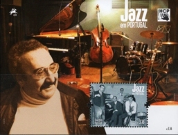 Portugal Quarteto Hot Club Block Issue MNH Musicians Piano And Instruments - Musique