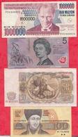 Pays Du Monde  8 Billets  Dans L 'état  Lot N °3 - Coins & Banknotes