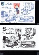 701562784 BELGIE POSTFRIS MINT NEVER HINGED POSTFRISCH EINWANDFREI  OCB BL91 500 JAAR EUROPESE POST + ZWART WIT VELLETJE - Blokken 1962-....