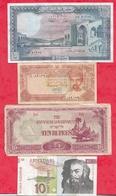 Pays Du Monde  8 Billets 7 Dans L 'état Et 1 Usagé Lot N °4 - Coins & Banknotes