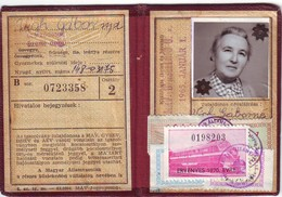 1966-1970 - Train Ticket, License- Hungary MÁV - Titres De Transport