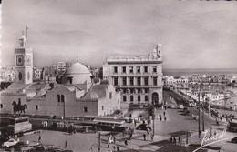 CPSM ALGER PLACE DU GOUVERNEMENT ET BASSIN DE L' AMIRAUTE - Alger