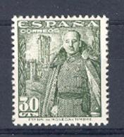 Spain 1948-54.Franco 30 Cts Ed 1025 (**) - 1931-50 Nuevos & Fijasellos