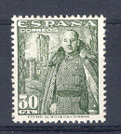 Spain 1948-54.Franco 30 Cts Ed 1025 (**) - 1931-50 Unused Stamps