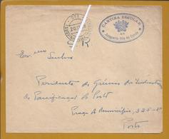 Touguinha. Vila Do Conde. Cantina Escolar Da Junqueira, Vila Do Conde. Carta Isenta Porte - S.R. Serviço Da República.2 - Lettere