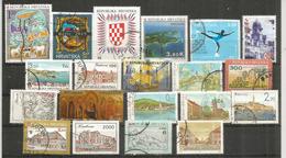 CROATIE. 20 Beaux Timbres Nouveaux Oblitérés , Bonne Qualité,  Provenant De Mon Courrier - Stamps