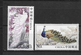 LOTE 1819  ///  (C050)  CHINA 2004 **MNH // Peacock 2v - Nuevos