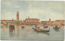 W547 Venezia - Bacino Di San Marco - Illustrazione Illustration / Non Viaggiata - Venezia