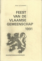 STAD ANTWERPEN - FEEST VAN DE VLAAMSE GEMEENSCHAP 1991 - GULDENSPORENSLAG HERDENKING - Programmes