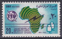 Ägypten Egypt 1971 Kommunikation Communication Fernmeldewesen Fernmeldenetz Telecommunication Network, Mi. 1037 ** - Ungebraucht