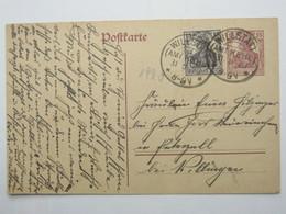 1920 , WILLSTÄDT , Klarer KOS Stempel Auf Ganzsache - Germany