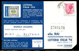 "Falso 40 Lire Siracusana Su Cartolina ""Lotteria Italia"" - 6. 1946-.. Repubblica"