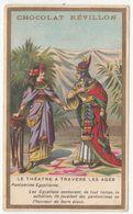 Le Théatre Pantomine Egyptienne Egypte Chocolat Réveillon Ancienne Chromos Chromo Card - Revillon