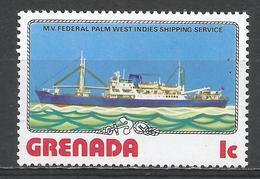 Grenada 1976. Scott #765 (MNH) M.V. Federal Palm, West Indies Shipping Service, Ship * - Grenade (1974-...)