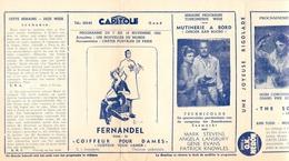 Ciné  Bioscoop Programma Cinema Capitole - Savoy - Select - Eldorado - Gent - Film Fernandel - 1952 - Publicité Cinématographique