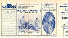 Ciné  Bioscoop Programma Cinema Capitole - Savoy - Select - Eldorado - Gent - Film The Crimson Pirate - 1953 - Publicité Cinématographique