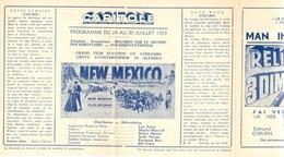 Ciné  Bioscoop Programma Cinema Capitole - Savoy - Select - Eldorado - Gent - Film New Mexico - 1953 - Publicité Cinématographique