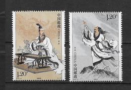 LOTE 1819  ///  (C055)  CHINA 2018 **MNH //  Ancient Celebrity - Qu Yuan 2v - 1949 - ... República Popular