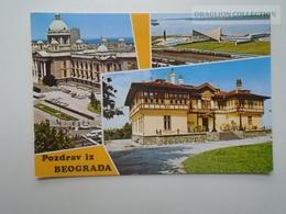 D162605 Serbia Beograd Railway Station Train  PU 1983 - Gares - Avec Trains