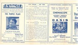 Ciné  Bioscoop Programma Cinema Capitole - Savoy - Select - Eldorado - Gent - Film The Purple Plain - 1955 - Publicité Cinématographique