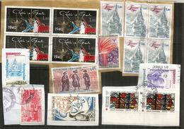 FRANCE & UNESCO. Lot De 17 Timbres Oblitérés Sur Fragment, Provenant De Mon Courrier - Stamps