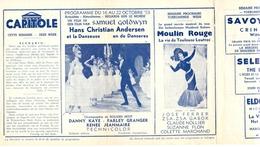 Ciné  Bioscoop Programma Cinema Capitole - Savoy - Select - Eldorado - Gent - Film Hans Christian Andersen - 1953 - Publicité Cinématographique