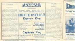 Ciné  Bioscoop Programma Cinema Capitole - Savoy - Select - Eldorado - Gent - Film Capitaine King - 195? - Publicité Cinématographique