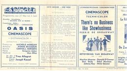 Ciné  Bioscoop Programma Cinema Capitole - Savoy - Select - Eldorado - Gent - Film Oasis - 1955 - Publicité Cinématographique