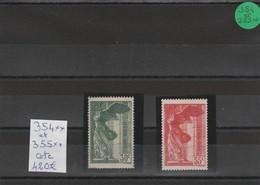 N°354** Et 355** Victoire De Samothrace Gomme D'origine (1937) - France