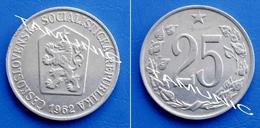 CZECHOSLOVAKIA CESKOSLOVENSKA 25 Haleru 1962 - CZECH LION WITH SOCIALIST SHIELD - Tchécoslovaquie