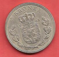 5 Kroner , DANEMARK , Cupro-Nickel , 1965 , N° KM # 853.1 - Danemark
