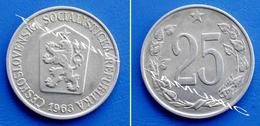CZECHOSLOVAKIA CESKOSLOVENSKA 25 Haleru 1963 - CZECH LION WITH SOCIALIST SHIELD - Czechoslovakia